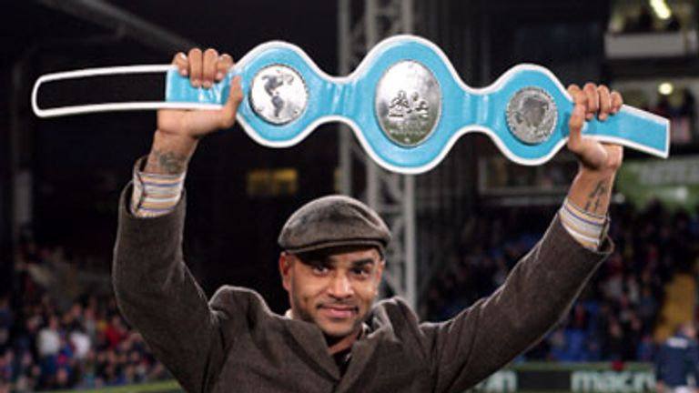 Leon McKenzie: Parades his title belt at Selhurst Park