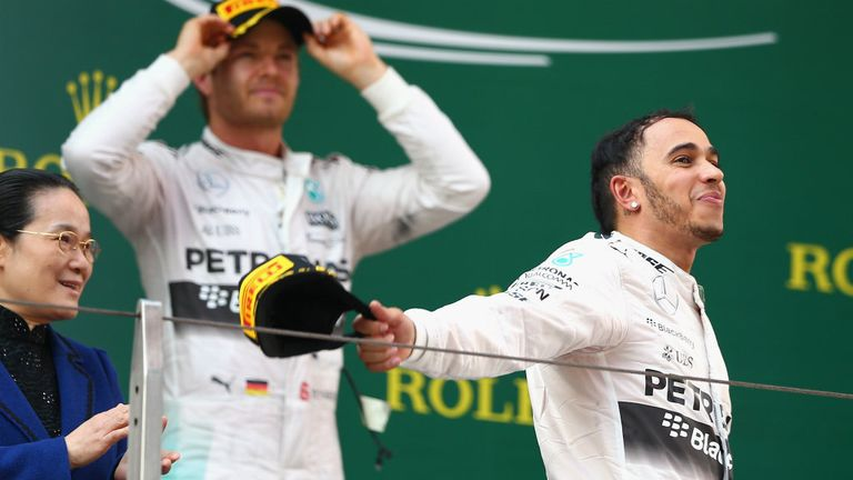 It's now two wins from three for Lewis in 2015