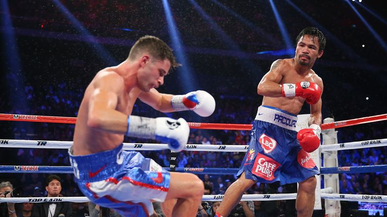 Pacquiao dominated Chris Algieri for 12 rounds in his most recent fight last November in The Venetian, Macau