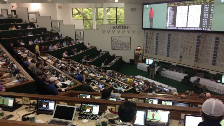 The Masters media centre: There's some royalty in there