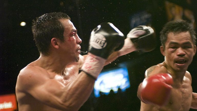 Garcia has joined old rivals Marquez and Pacquiao in the history books