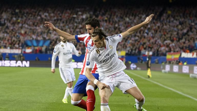 Gareth Bale and Real Madrid go up against Atletico in Milan on Saturday night