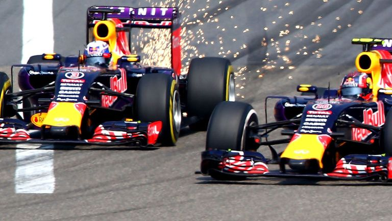 Sparks fly between the two Red Bulls at the start of the 2015 season