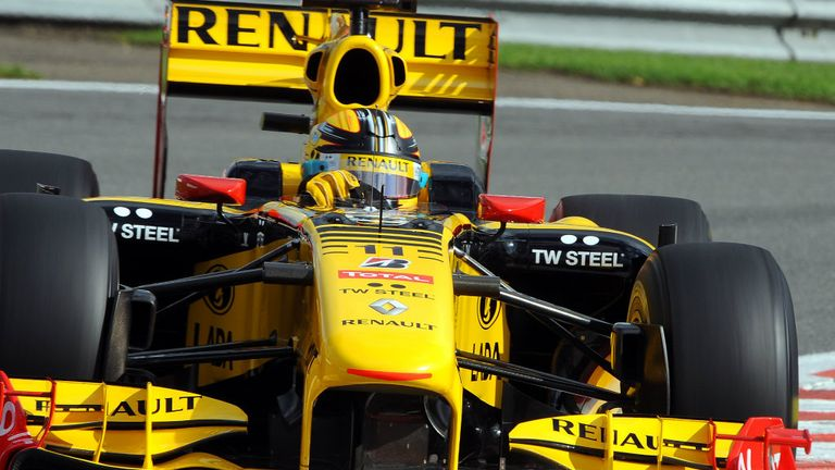 The last Renault-branded F1 car in 2010