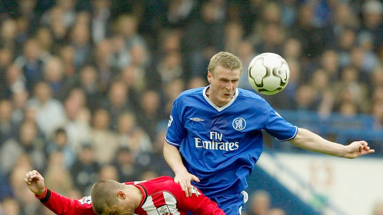 Robert Huth in action for Chelsea in May 2004