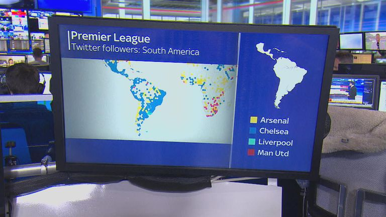 Chelsea have many supporters in South America, particularly Brazil - represented by a number of their players