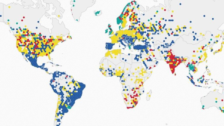 Twitter map: Hotspots across the globe, with Liverpool the most followed club in the UK and Manchester United a hit in Asia