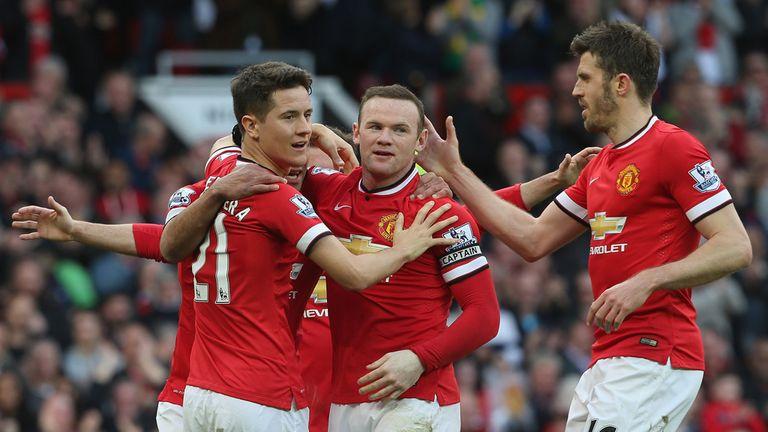 Wayne Rooney of Manchester United celebrates