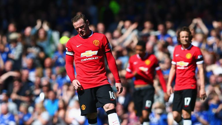 Rooney endured a difficult campaign in 2014/15