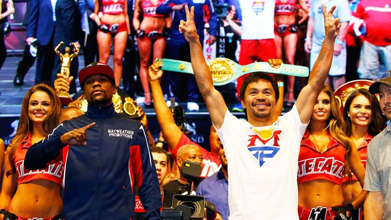 Floyd Mayweather (left) and Manny Pacquiao (right) are set to meet in one of the most eagerly-awaited bouts of all-time