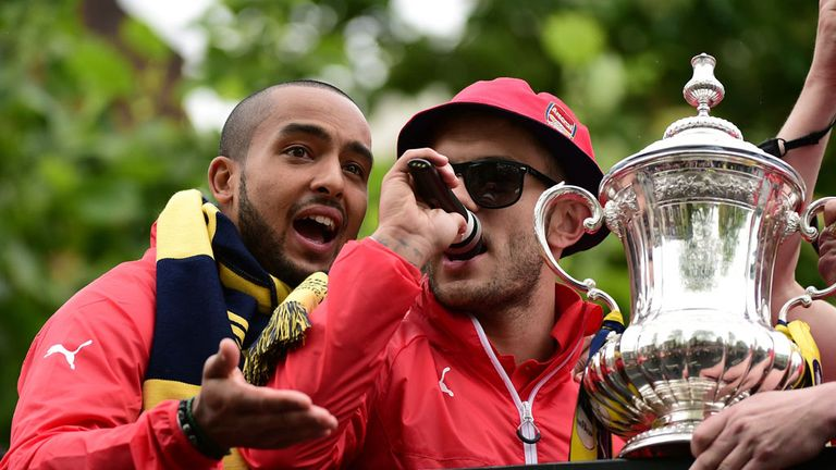Wilshere mocked Tottenham during Arsenal FA Cup parade