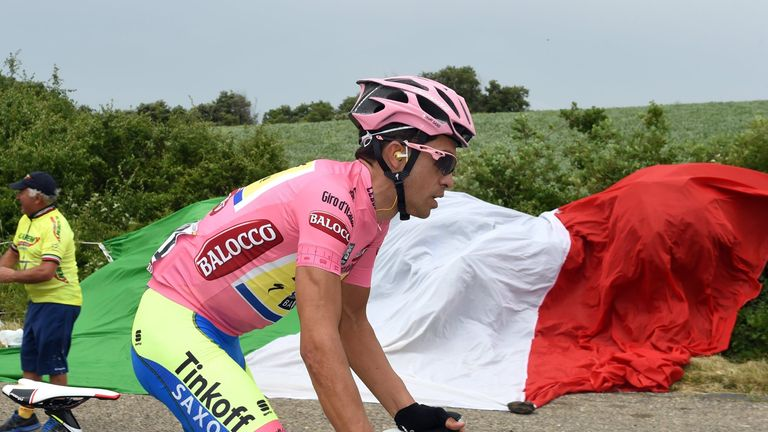 Contador finished the stage in the peloton after 7hr 22min of racing