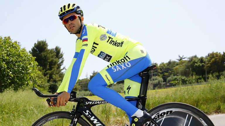 Alberto Contador tinkered with his time-trial position during Monday s rest  day 14245df0a