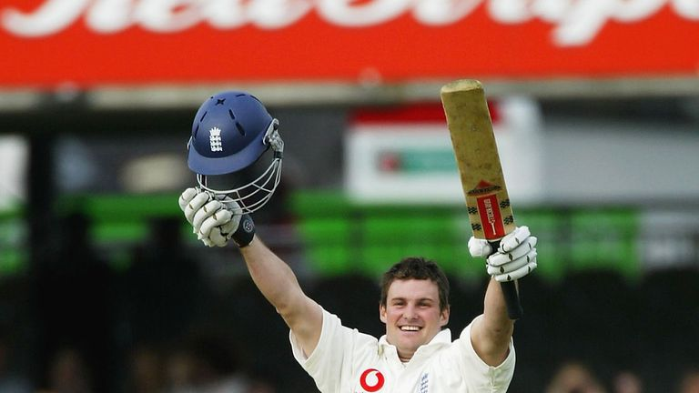 A fresh-faced Strauss celebrates a debut Test century