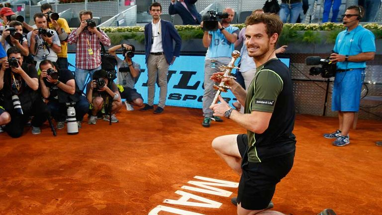 Andy Murray has enjoyed a brilliant European clay season with wins in Munich and at the Madrid Masters