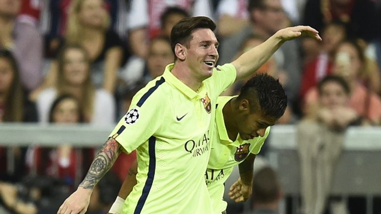Lionel Messi and Neymar combined over to legs to send Barca to the final