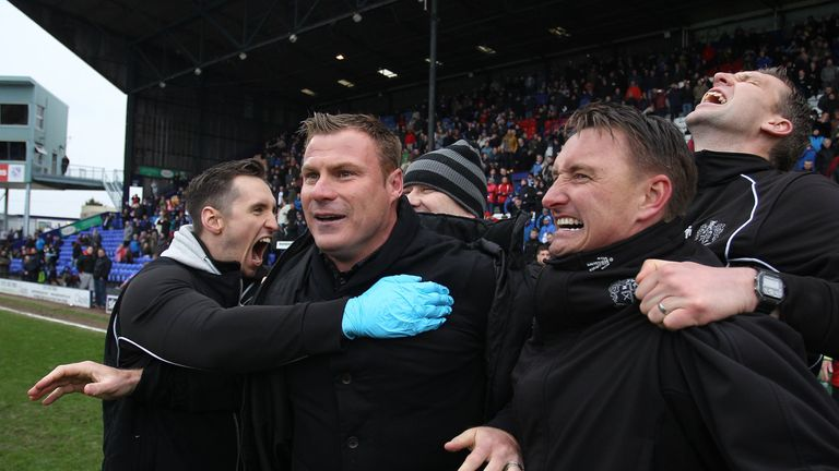 Bury manager David Flitcroft (middle) in running for League One manager award for September