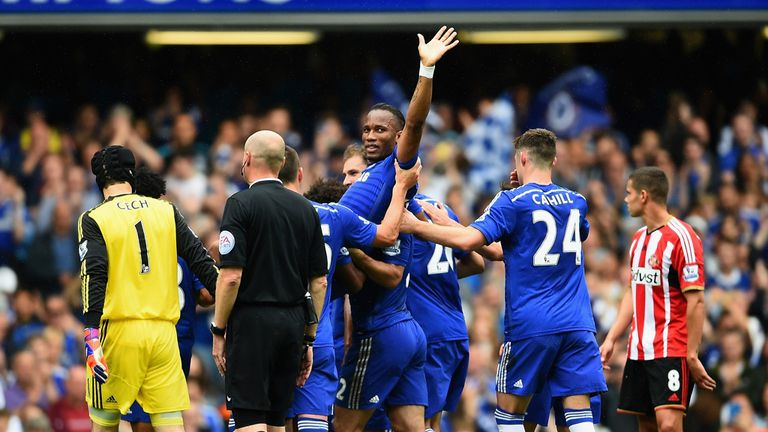 Didier Drogba made his final appearance for Chelsea against Sunderland