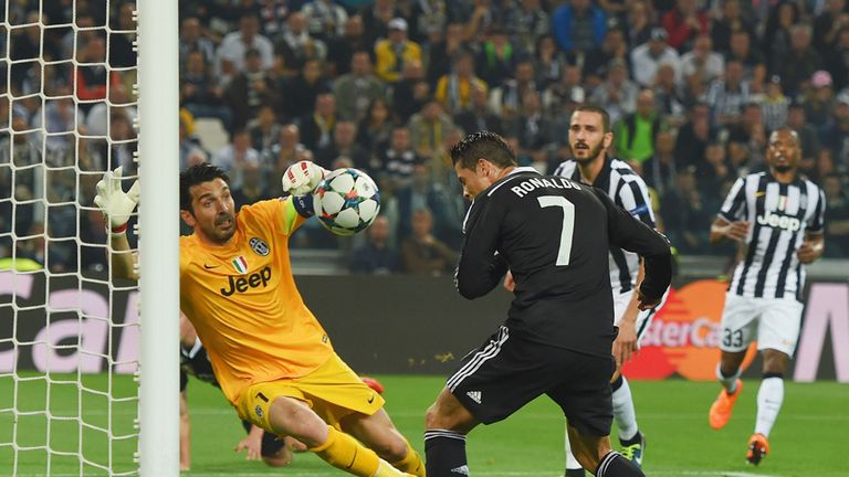 Ronaldo heads home from close range in the first half for his 76th Champions League goal