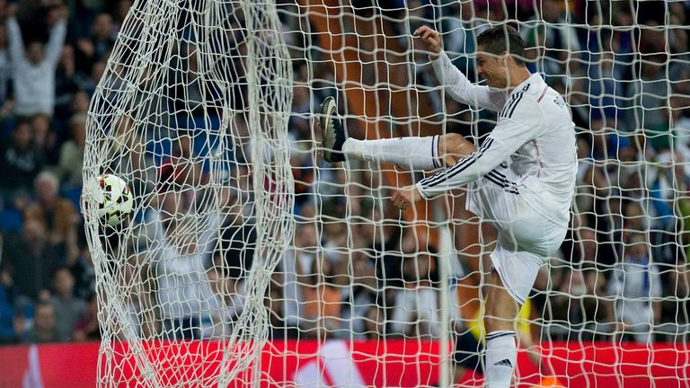 Cristiano Ronaldo: Reacted angrily after Alvaro Arbeloa scored for Real Madrid