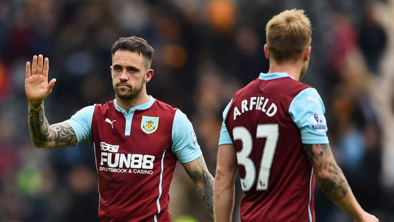 Danny Ings of Burnley waves to fans