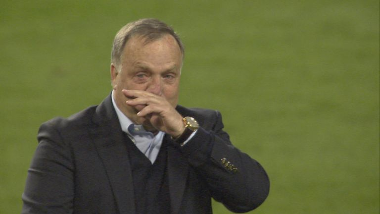 Dick Advocaat could not contain his emotions at the final whistle