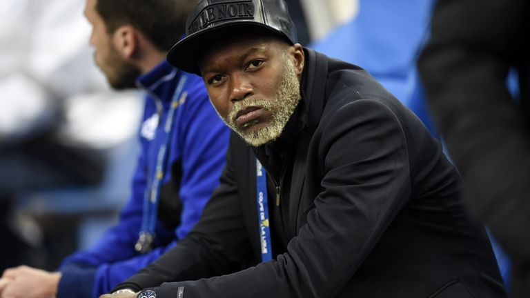 Djibril Cisse watches current club Bastia from the sidelines against PSG