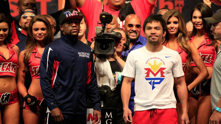 Floyd Mayweather Jr and Manny Pacquiao: Shared the big stage one more time