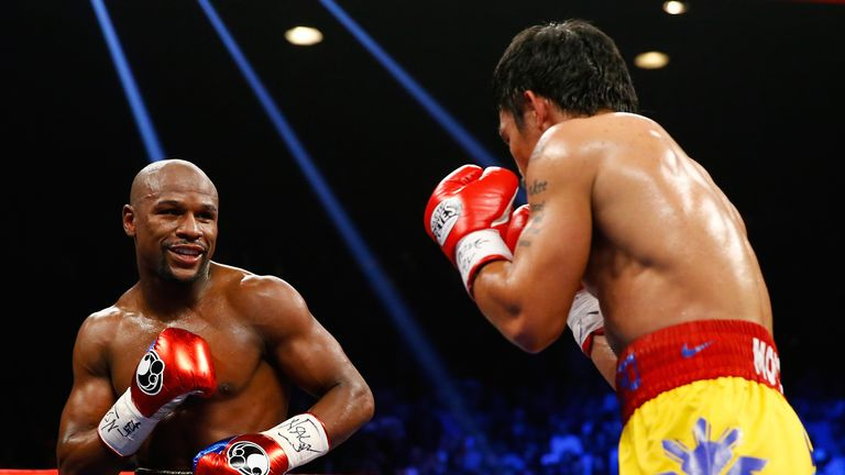 Pacquiao struggled to penetrate Mayweather's defences