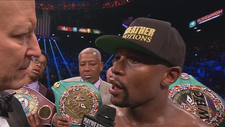 Mayweather: 48 fights, 48 wins