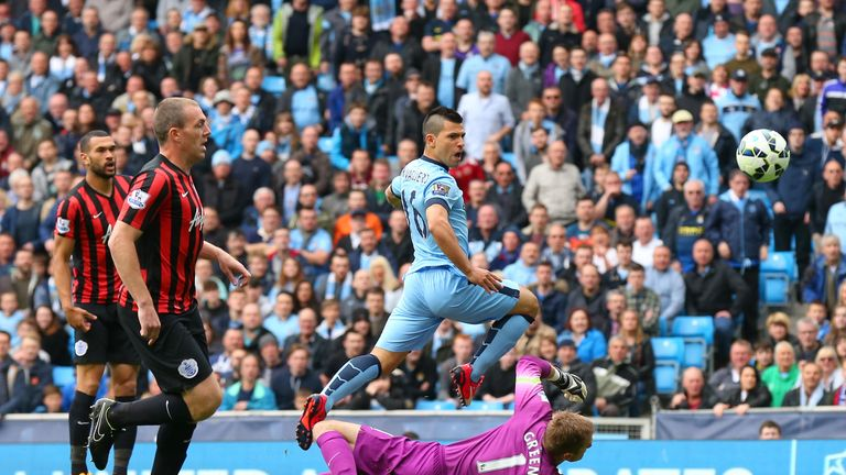 Sergio Aguero's goals confirmed QPR's relegation at Manchester City