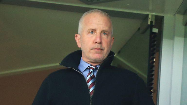 Randy Lerner during the Barclays Premier League match at Villa Park, Birmingham.