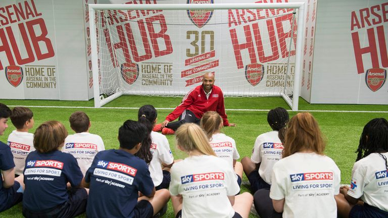 Henry at a previous Sky Sports Living For Sport Masterclass at the Arsenal Hub