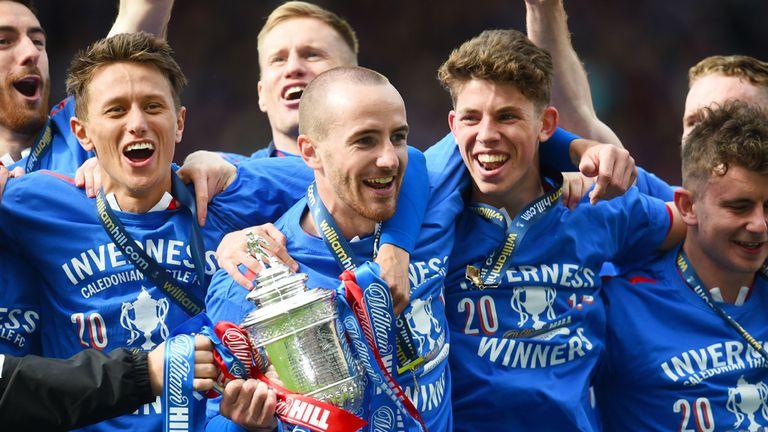 Inverness players celebrate victory in last season's William Hill Scottish Cup final at Hampden
