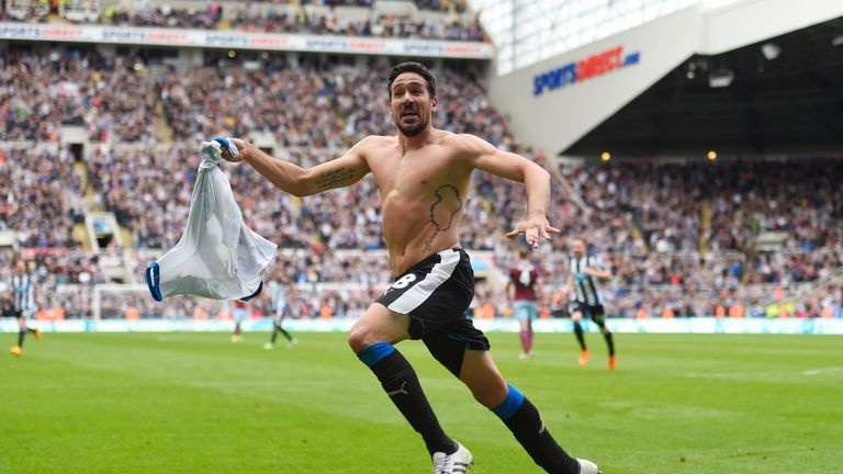 Jonas Gutierrez: Released by Newcastle despite heroics against West Ham