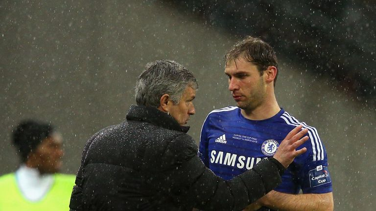 Jose Mourinho (left): Branislav Ivanovic pays tribute