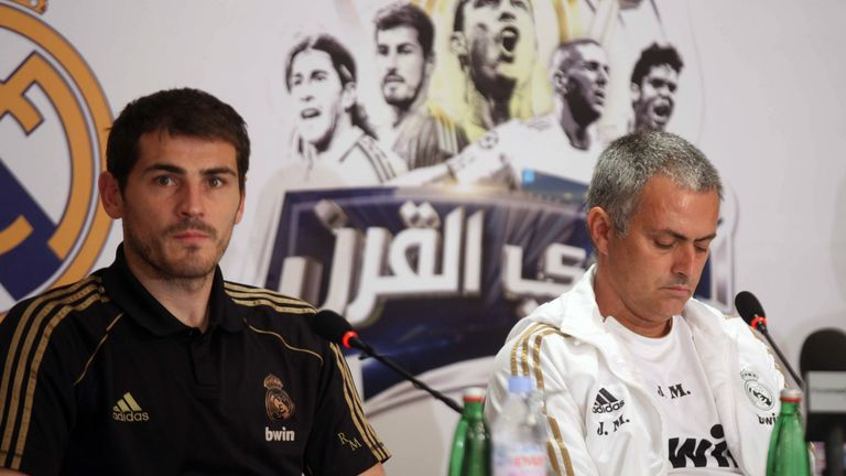 Mourinho publicly fell out with Real Madrid goalkeeper Iker Casillas