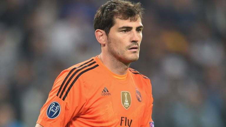 TURIN, ITALY - MAY 05: Iker Casillas of Real Madrid looks on during the UEFA Champions League semi final match between Juventus and Real Madrid at Juventus