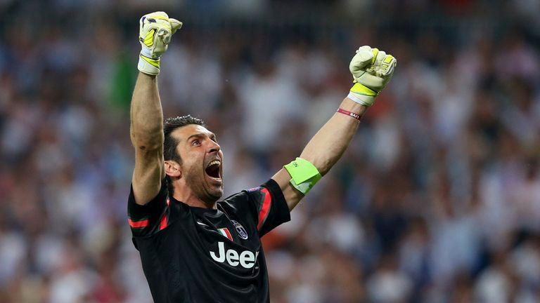 Goalkeeper Gianluigi Buffon of Juventus celebrates