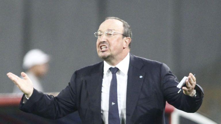 Napoli's coach from Spain Rafael Benitez