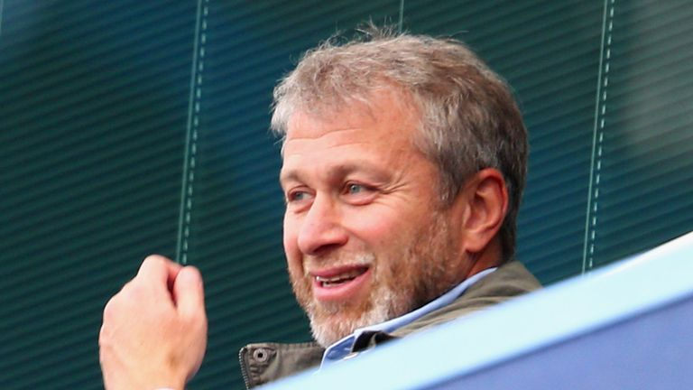 Chelsea owner Roman Abramovich looks on from the stands