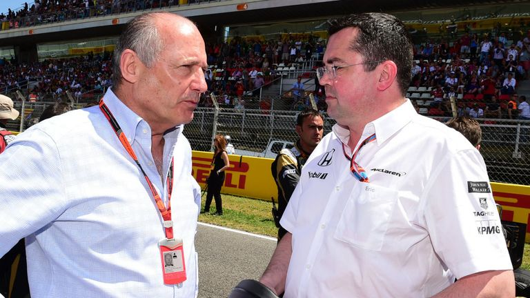 Ron Dennis and Eric Boullier