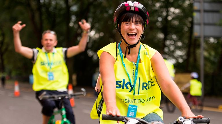 Initiatives such as Sky Ride have helped increase the number of people taking part in cycling