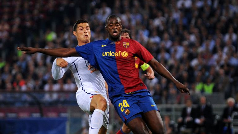 Toure featured for Barcelona in the 2009 Champions League final