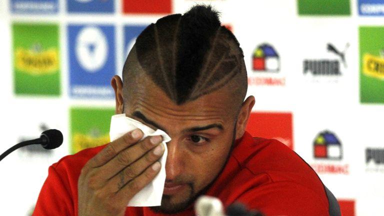 Arturo Vidal: Emotional after car crash