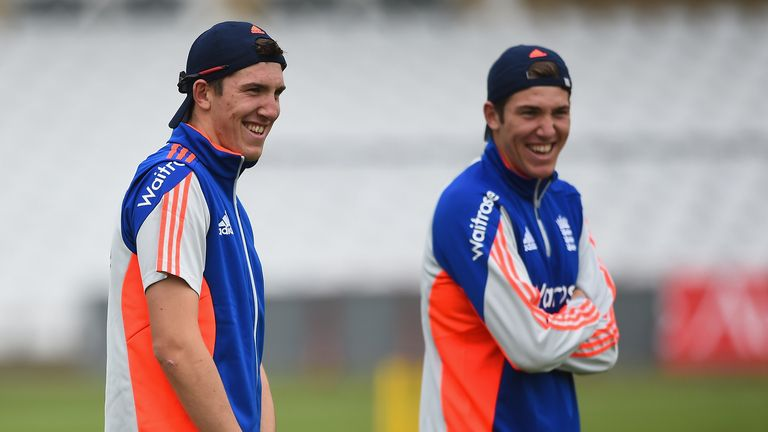 The Overton twins train ahead of the fourth ODI in Nottingham