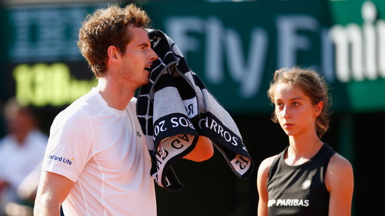Andy Murray: Suffered a bug during the tournament in Paris