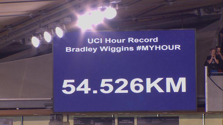 The big screen registers Sir Bradley Wiggins' success at Lee Valley VeloPark