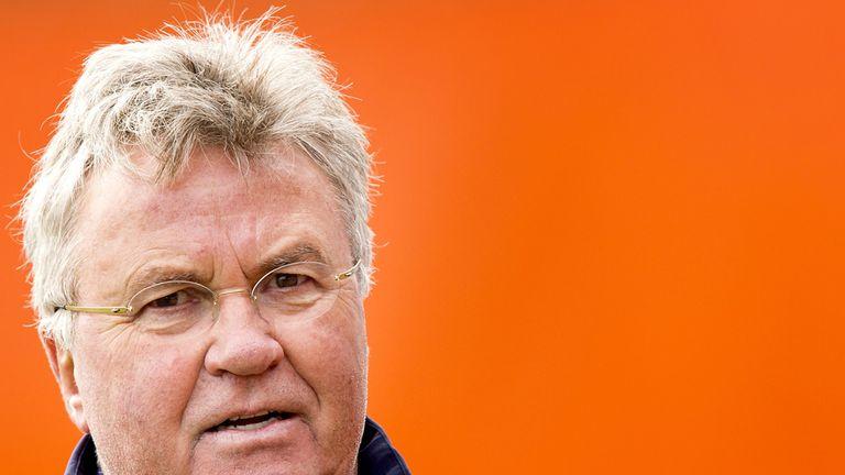 Dutch national soccer team head coach Guus Hiddink