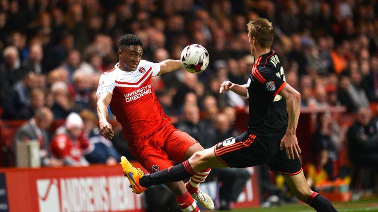 Joe Gomez in action for Charlton against Fulham last season